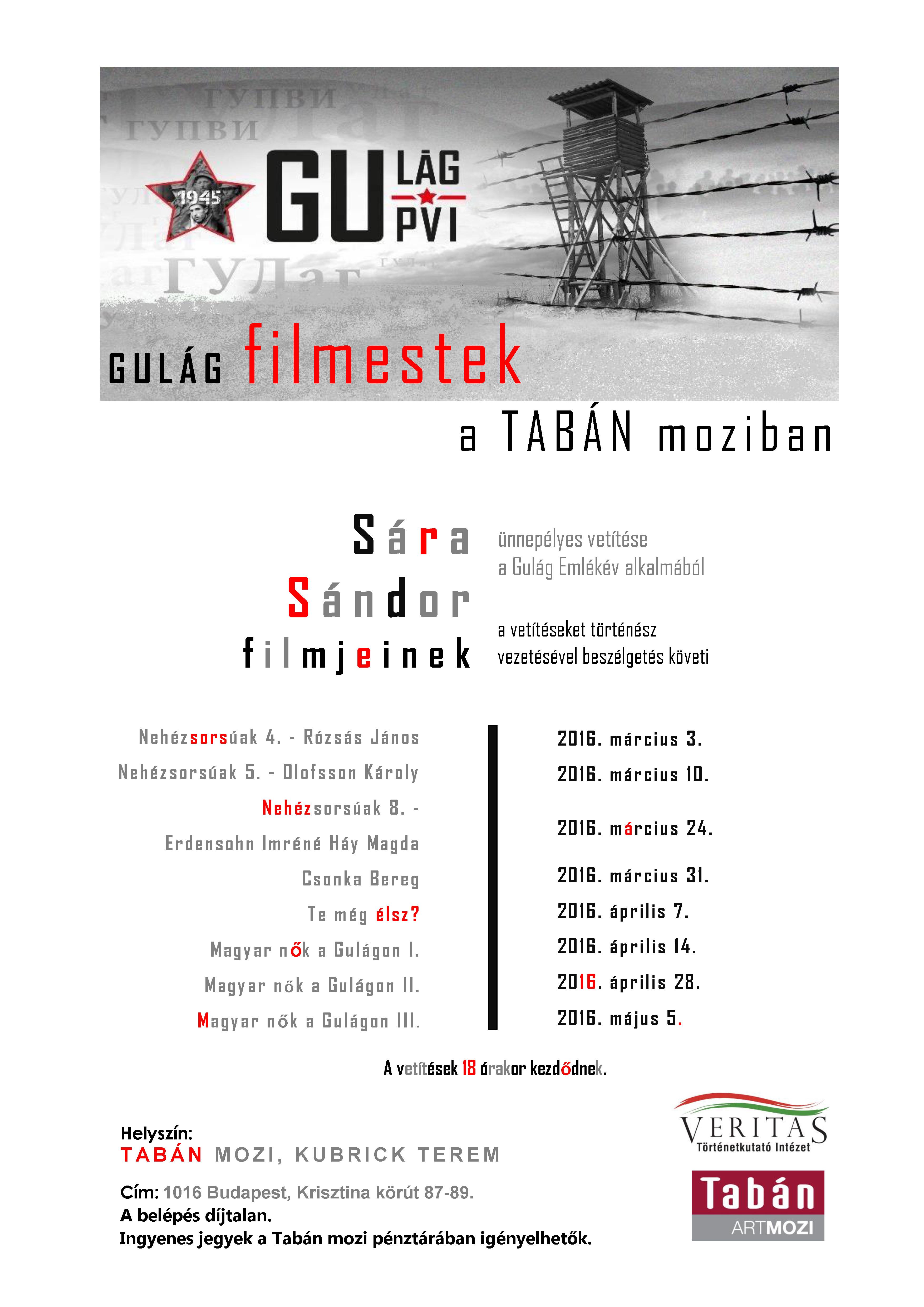 Gulág Filmestek - plakát - sorozat A3